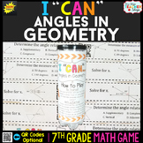 7th Grade Angles in Geometry Game - 7th Grade Math Game