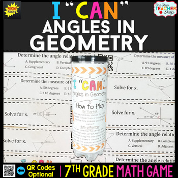 Angles in Geometry Seventh Grade Math Game