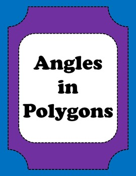 Angles in Polygons Worksheet, Geometry