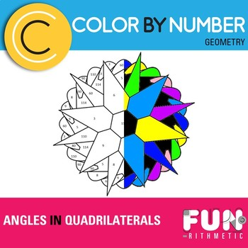 Angles in Quadrilaterals Color by Number