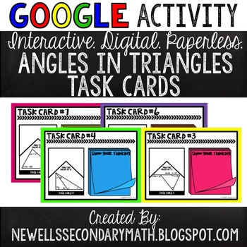 Google Activity: Angles in Triangles Task Cards