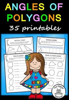 Angles  of Polygons– 35 printable worksheets