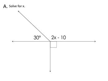 Angles with Variables Gallery Walk Problems