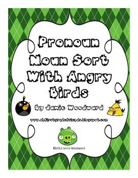 Angry Bird Pronoun Sort