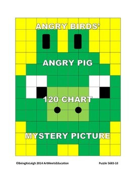Angry Birds' Angry Pig - 120 Chart Mystery Picture!