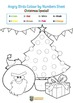 Angry Birds Christmas Colour by Numbers