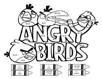 Angry Birds - Multiplication and Addition