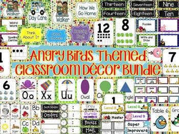 Angry Birds Themed Classroom Decor Bundle