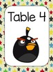 Angry Birds Themed Table and Group Posters