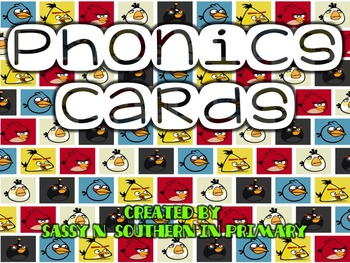 Angry Birds themed Phonics Cards