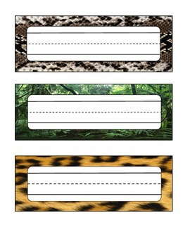 Animal Skin / Jungle Desk Labels