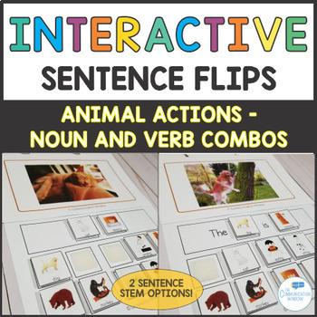 Creature Capers Interactive Sentence Flips Noun and Verb Combos