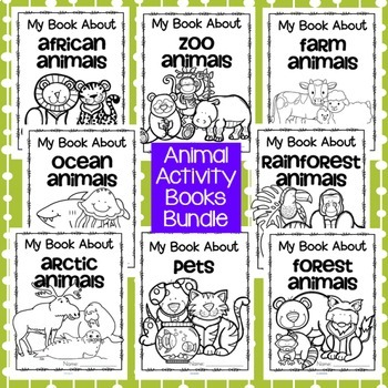Animal Activity Books BUNDLE