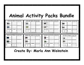 Animal Activity Packs Bundle