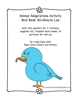 Animal Adaptations Activity- Bird Beak Lab
