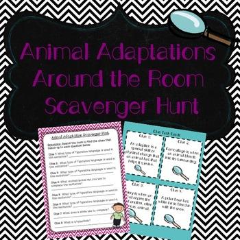 Animal Adaptations Scavenger Hunt