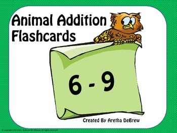 Addition Flashcards (6-9)