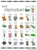Animal Alphabet Chart and Posters (Gray Chevron and Brights)