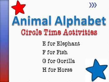 Animal Alphabet Circle Time Games & Activities E-H