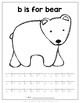 Animal Alphabet Coloring & Lowercase Handwriting Packet
