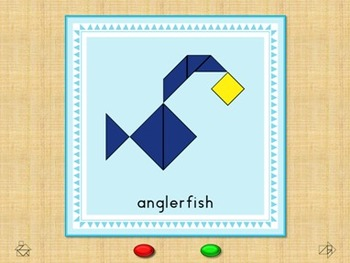 Animal Alphabet Flash Cards  - Tangram  -  Interactive Pow