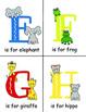 Animal Alphabet Flashcards, Classroom Decor or Center Activity