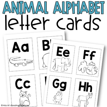 Animal Alphabet Letter Cards {Word Wall Cards}