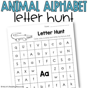 Letter Hunt {Animal Alphabet}