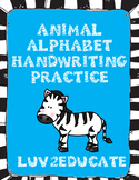 Handwriting Practice--Animal Alphabet