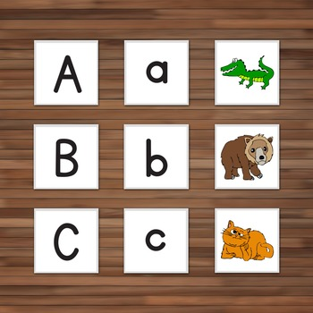 Animal & Alphabet Matching Cards