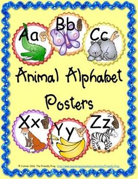 Animal Alphabet Posters (round)