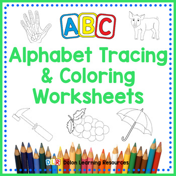 ABC Alphabet Tracing & Coloring Book