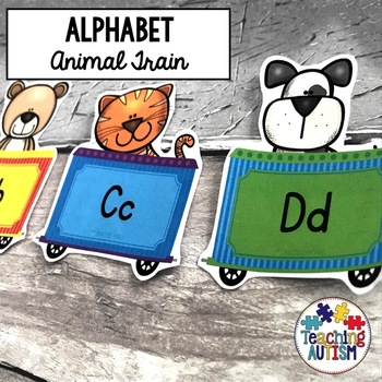 Animal Alphabet Train Display