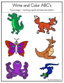 Animal Alphabet and Writing Practice