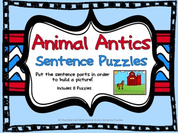 Animal Antics Sentence Puzzles