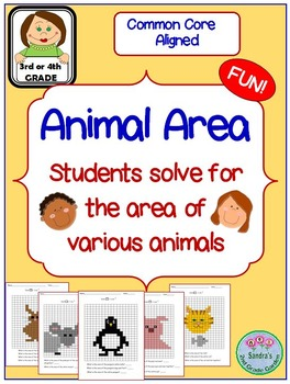 Animal Area / Students Solve for the Area of Various Animals