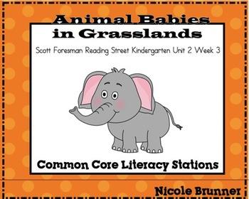 Animal Babies Reading Street Unit 2 Week 3 Common Core Lit