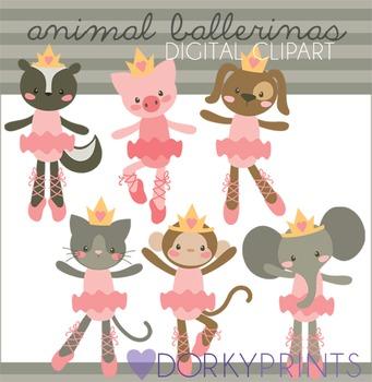 Animal Ballerina Digital Clip Art