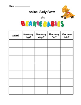 Animal Body Parts with Beanie Babies