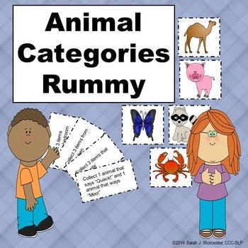 Animal Categories Rummy - Spanish Edition