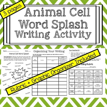 Animal Cell Writing Activity