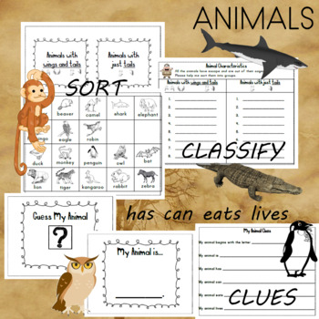 Animal Themed Word Work