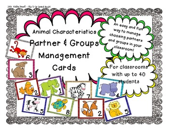 Animal Characteristics Partner & Group Management Cards (F