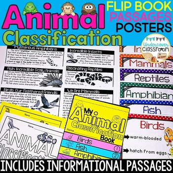 Animal Classification Flip Book and Poster Set