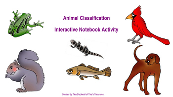 Animal Classification Interactive Notebook Activity