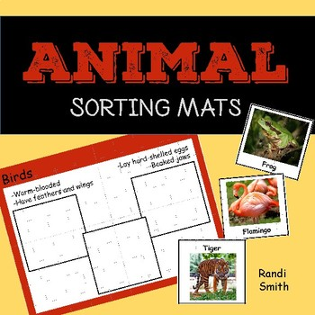 Animal Classification Sorting Mats