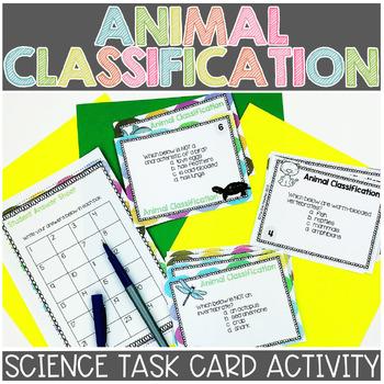 Animal Classification Task Cards