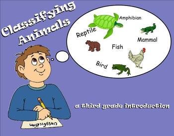 Animal Classifications - A Third Grade Smartboard Introduction