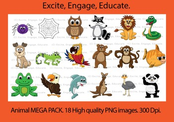Animal Clipart - MEGA PACK! SAVE over $30! (59% off)