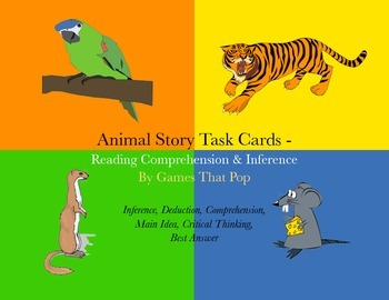 Animal Story Task Cards - 2nd, 3rd or homeschool